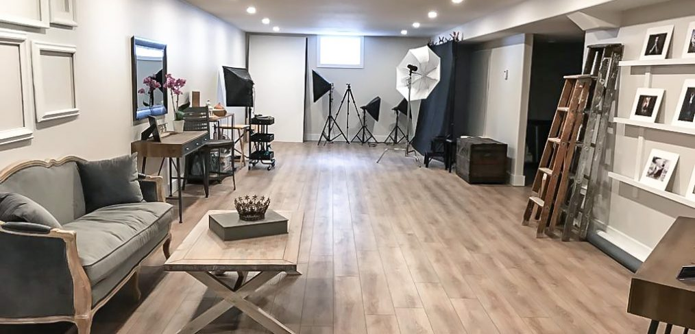 Inside the Alana Lee Photography studio in Port Hope Ontario