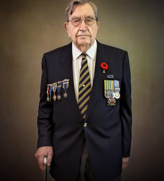 portrait of Korean war veteran Aimes Nystrom