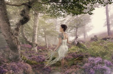 Alana Lee Photography: purple heather flowers in enchanted foggy forest