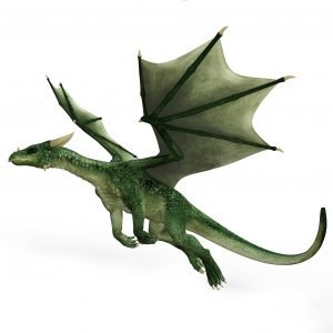example of flying green dragon overlay for photoshop
