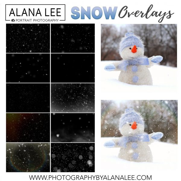 winter snow overlays for photographers