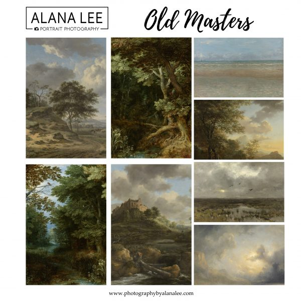 Old master painterly style digital backgrounds for photographers and digital artist based on old paintings