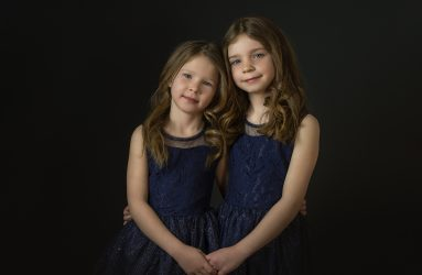 portrait photography of two sisters