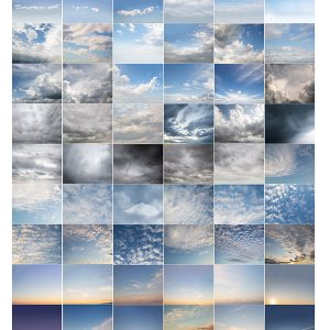 a collection of 60 sky overlays to use for photography and digital art