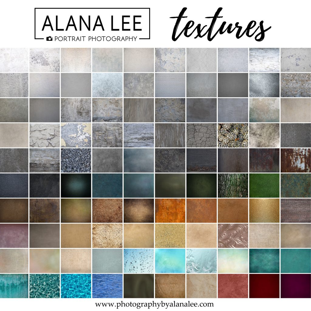 A collection of 100 digital textures curated and created by Alana Lee Photography